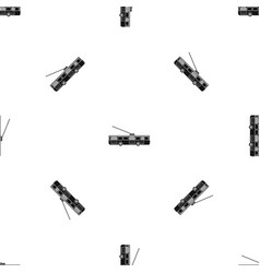 Trolleybus pattern seamless black vector