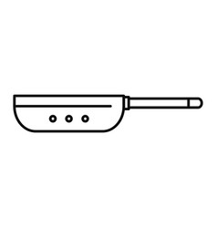 vapor fry pan icon outline style vector image