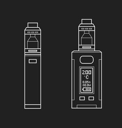 vaporizers mods types vector image