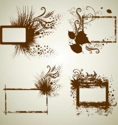 Vintage grunge frames vector