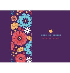 Colorful bouquet flowers horizontal seamless vector image