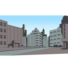 Comics City Street Scene Background vector image vector image