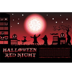 Halloween Red Night Poster V vector image