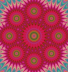 Red abstract star fractal mandala design vector image vector image