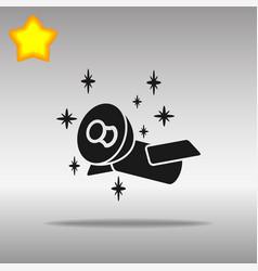 satellite black icon button logo symbol vector image