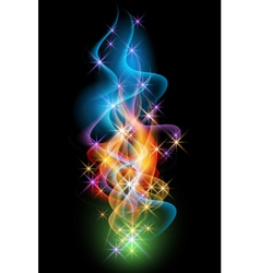 Smoke and stars vector image vector image