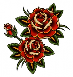 tattoo rose vector image