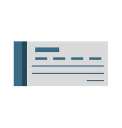 bank check symbol vector image