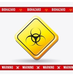 Danger advertising design vector image