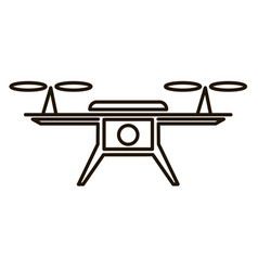 photo and video air drone icon vector image