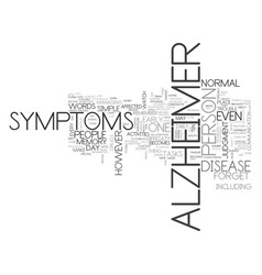 Alzheimer stages text word cloud concept vector
