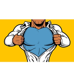 Black Superhero Chest vector image vector image