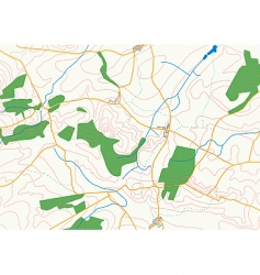 countryside map vector image vector image