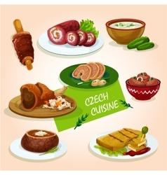 Czech cuisine comfort dishes for dinner design vector image vector image