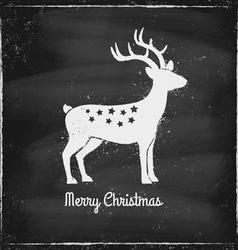 deer chalk vector image vector image