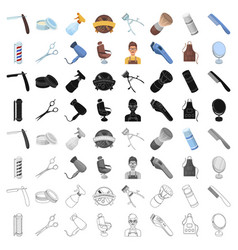 male barber symbol clipper and other equipment vector image vector image