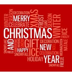 season words vector image vector image