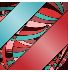 Abstract colorful background with ribbons vector image vector image