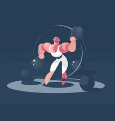 circus athlete strongman vector image vector image