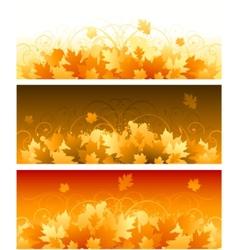 decorative swirling autumn design vector image vector image