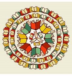 Education books back to school mandala vector image vector image