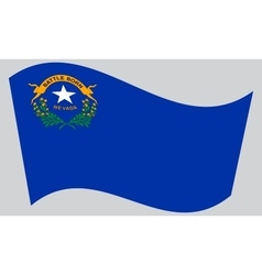 Flag of Nevada waving on gray background vector image vector image