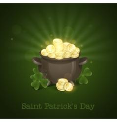 St Patricks Day Pot Of Gold vector image