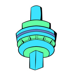 the cn tower in toronto icon cartoon vector image