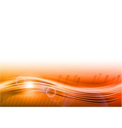 wave abstract orange vector image