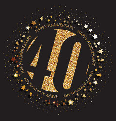 40th birthday logo vector
