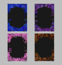 Abstract colored brochure template background set vector
