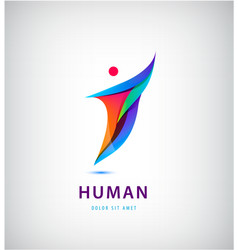 Abstract man silhouette logo human vector
