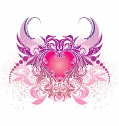 Angels and hearts vector