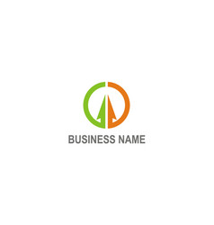 arrow colored business finance logo vector image