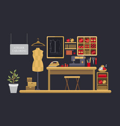 atelier tailoring vector image