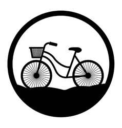 Bike of Healthy lifestyle design vector