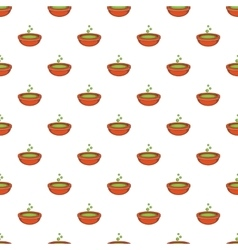 Bowl with green potion pattern cartoon style vector image