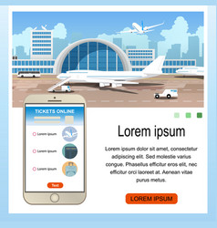 buying airline tickets online service vector image