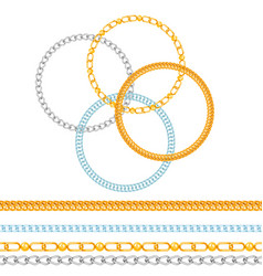 chains link strength connection seamless vector image