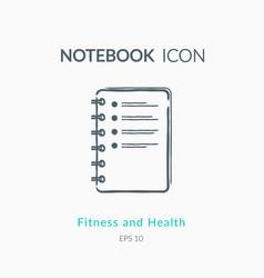 Checklist icon on white background vector