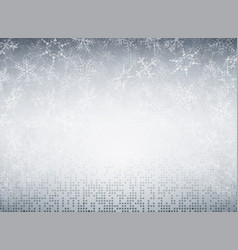 christmas snowflakes of futuristic technology vector image