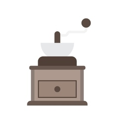 Classic coffee grinder vector