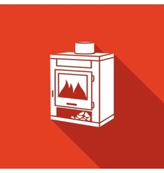 Coal oven icon vector
