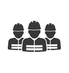 construction workers group icon images vector image