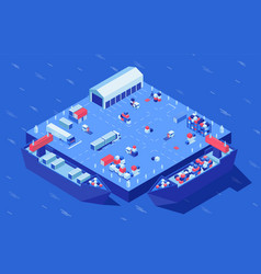 container yard isometric vector image