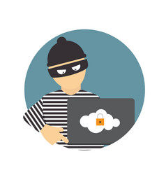 Criminal hacker concept fraud cyber crime vector