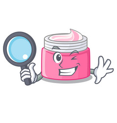 Detective face cream in the cartoon form vector