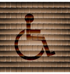 disabled Flat modern web button and space for your vector image