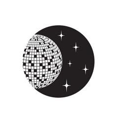 disco ball icon ball icon vector image