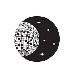 disco ball icon disco ball icon vector image